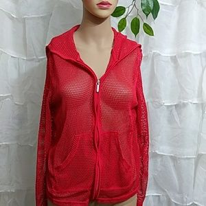 CATALINA Mesh Sporty Cover Up Zip Up Jacket T22
